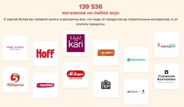 Список лучших магазинов-партнеров по начислению кэшбэка по карте Халва от Совкомбанка